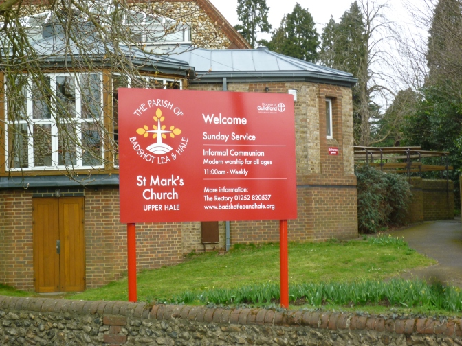 New Signs at St Mark's