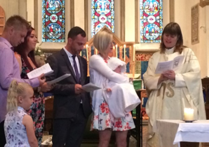A Baptism on the same day as Princess Charlotte