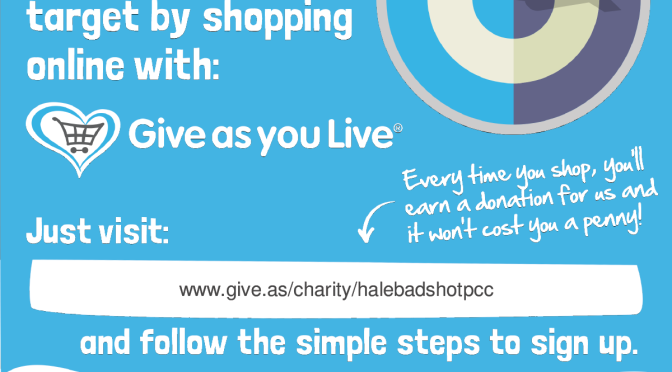 Help Fund Raise using Give As You Live