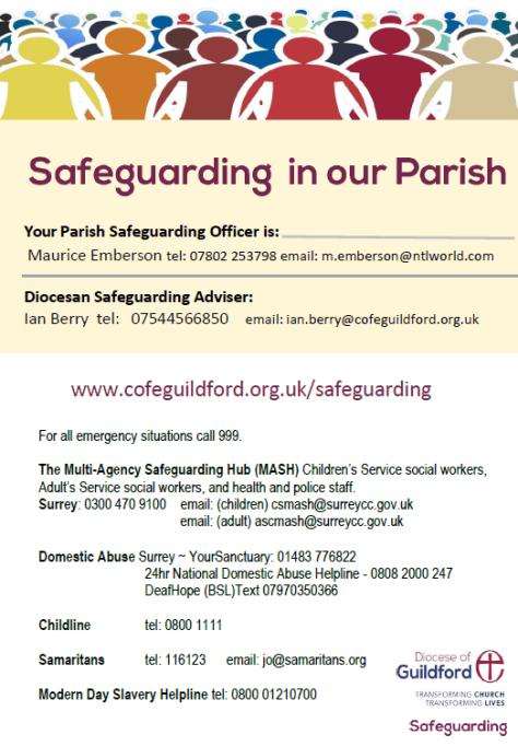 Poster - Safeguarding