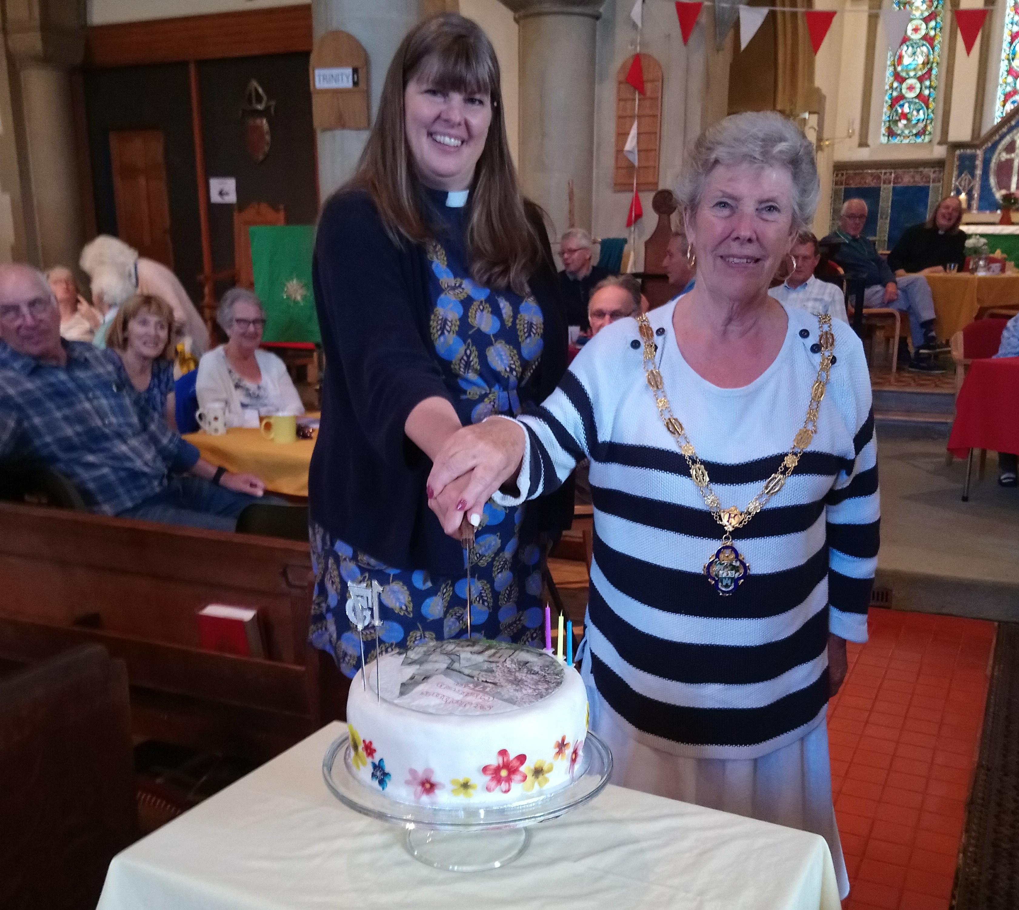 Cllr Pat Evans and Rev'd Lesley Crawley
