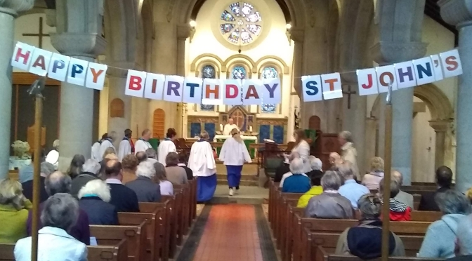 175th birthday service at St John's