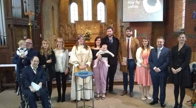 A baptismal welcome