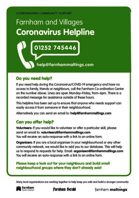 Farnham helpline