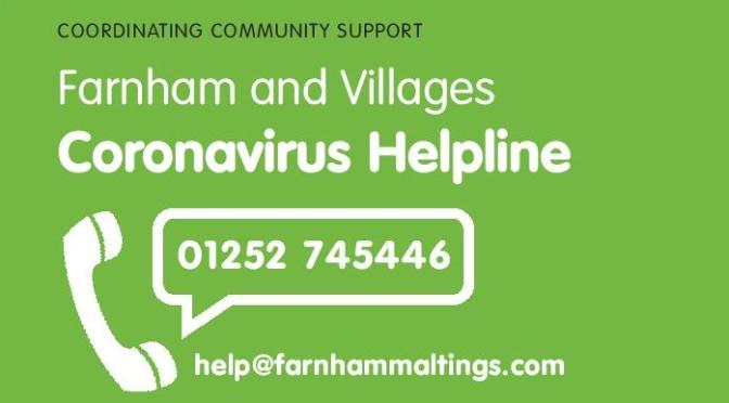Farnham and Villages Coronavirus Helpline