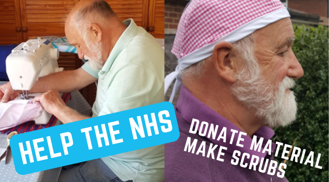 Help the NHS by making scrubs and donating material