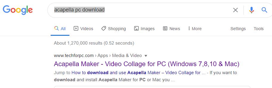 Google Acapella