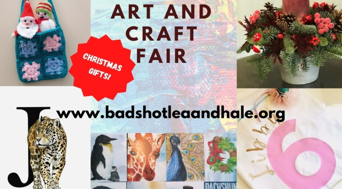 Art and craft fair – shop Now for Christmas Gifts