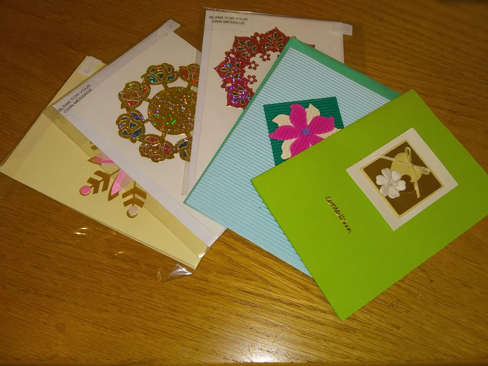 Handmade cards from 50p.