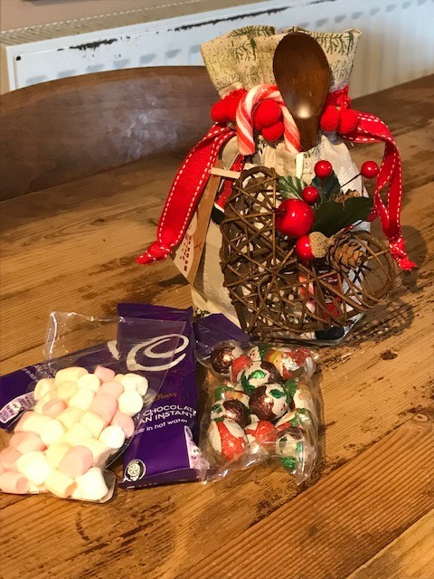 Hot chocolate  gift bag £7