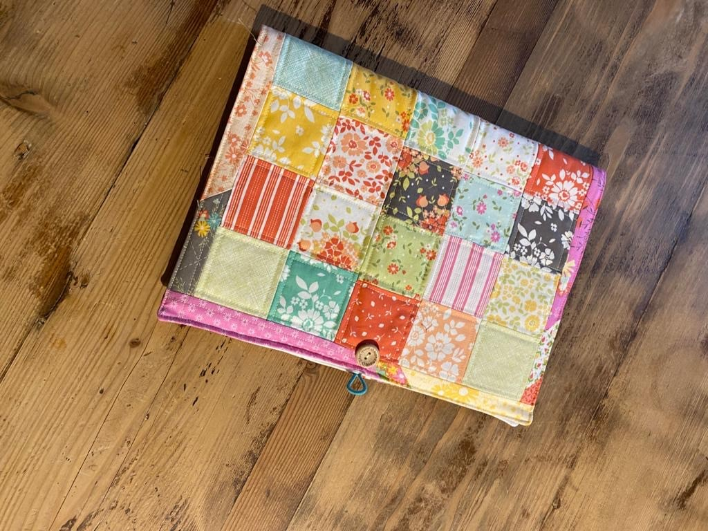 Patchwork notebook £10