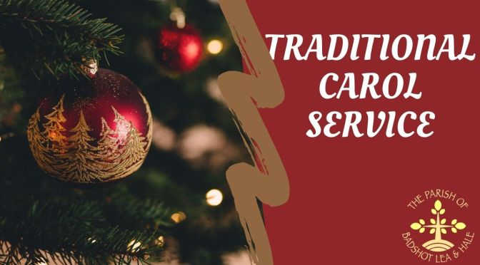 Traditional Carol Service – 20th December