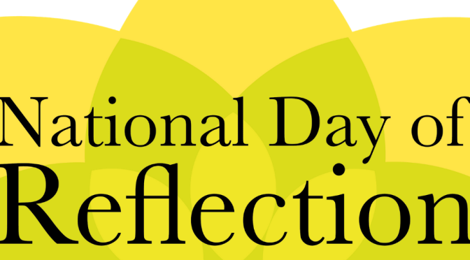 Yellow ribbons and prayer for National Day of Reflection